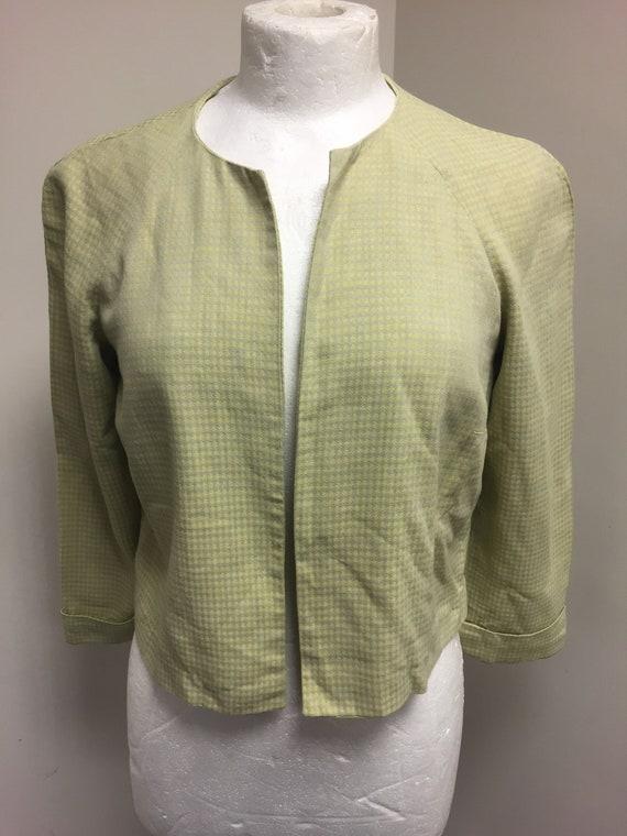 1940s original chartreuse check jacket