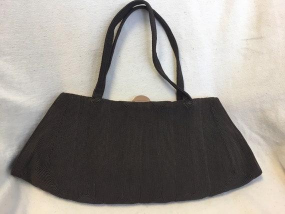 50s brown half moon Corde handbag