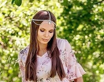 Bridal head chain | Etsy