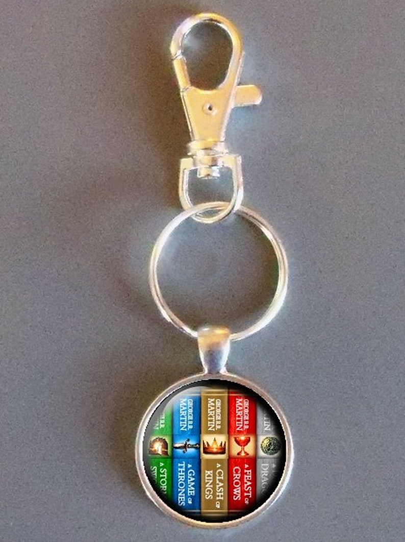 Game Of Thrones Book Collection - Keychain