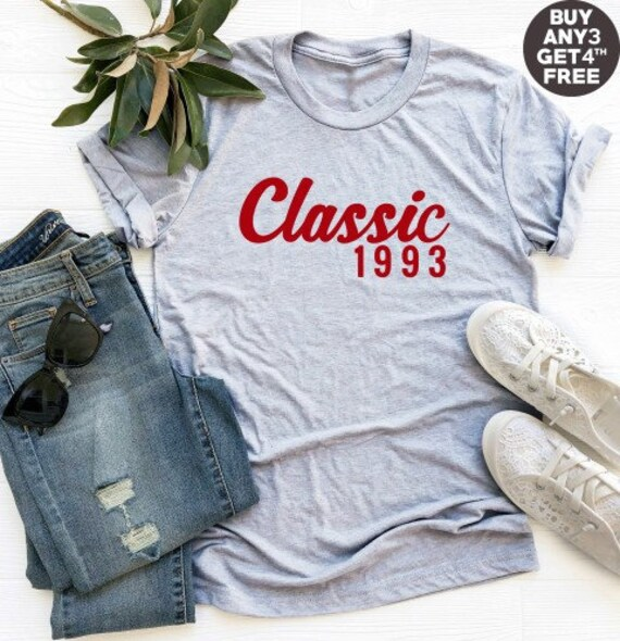 Classic Tshirt 25th Birthday Gifts 1993 Shirt Funny