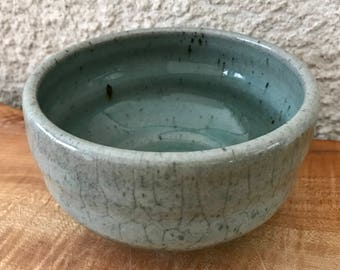 Chawan Tea Bowl / Soup Rice Eating Bowl / Gray Glaze with Crackle