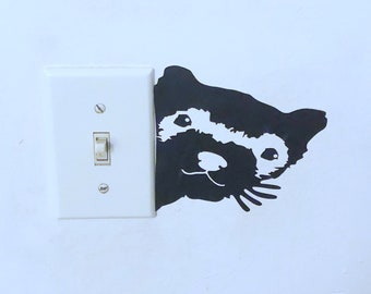 Peeking Ferret Decal, Outlet decal, Phone Decal, Window Decal