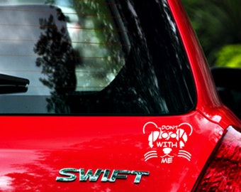 Don't Dook With Me Ferret Vinyl Decal
