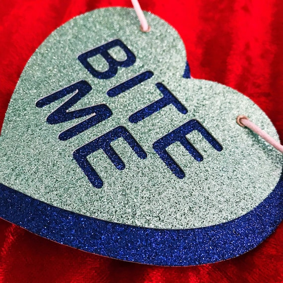 Anti Valentine S Day Candy Hearts Glitter Banner Wall Etsy