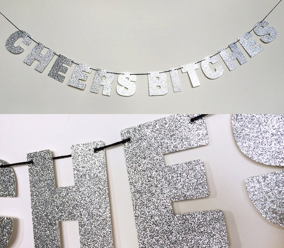 Sparkling Silver Banners Domestic Banners