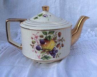 Sadler Fruit Motif Teapot