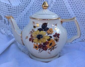 English Golden Bouquet Teapot