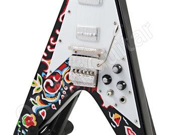 Miniature Guitar Jimi Hendrix PSYCHEDELIC Fly V