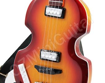 Miniature Guitar Paul McCartney THE BEATLES Hofner Bass 1966 without Pickguard