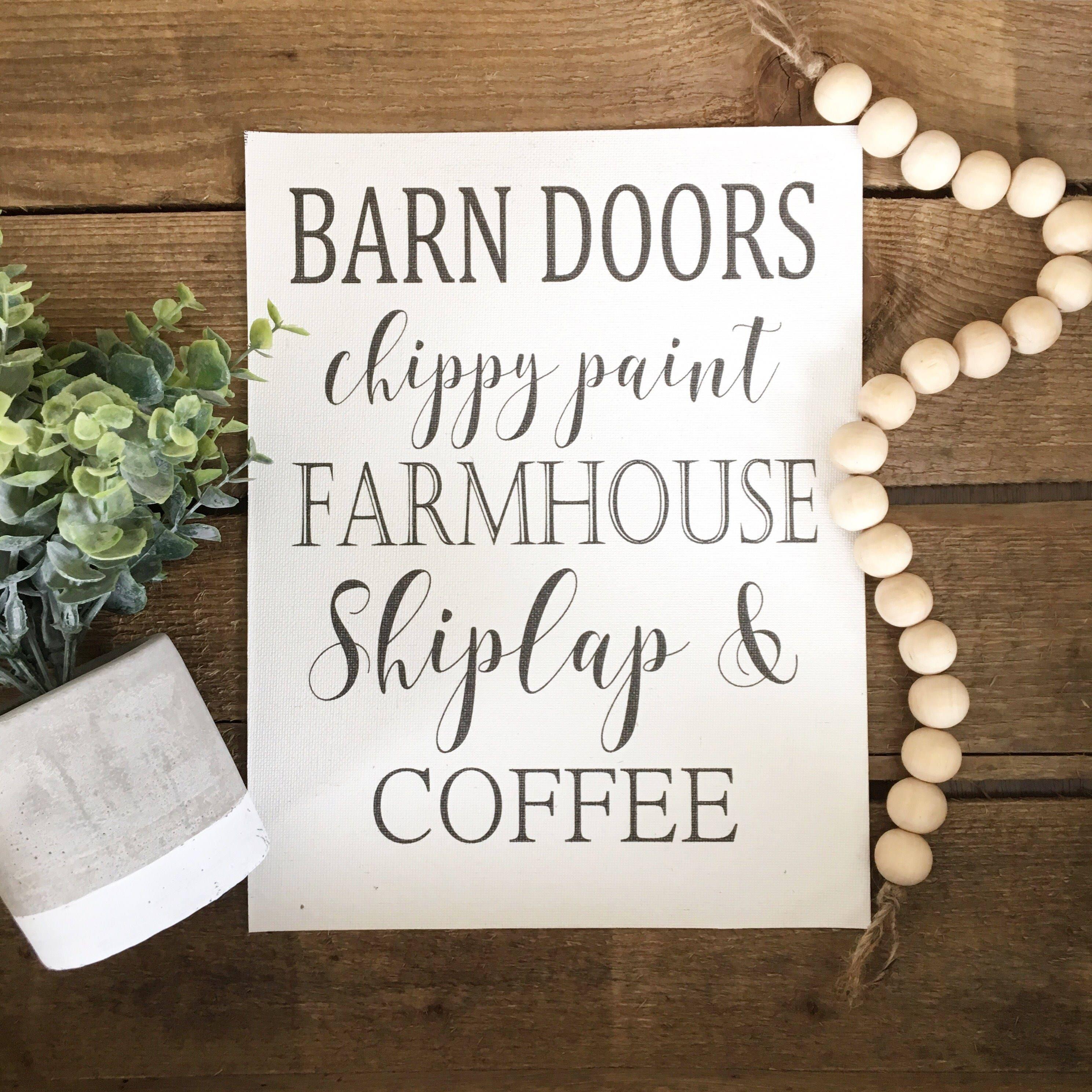 Gifts For A Farmhouse Decor Fan: Cotton Print Farmhouse Decor Farmhouse Shiplap Coffee