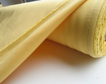 Rich Buttery Yellow Stretch Cotton Fabric by the yard