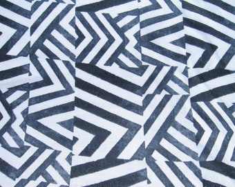 Escher Printed White Linen Fabric