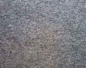Organic Cotton Ribbed Knit 1 by 1 Heathered Grey
