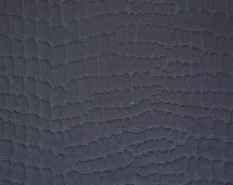 Crocodile Textured Faille Stable Knit Fabric By The Yard