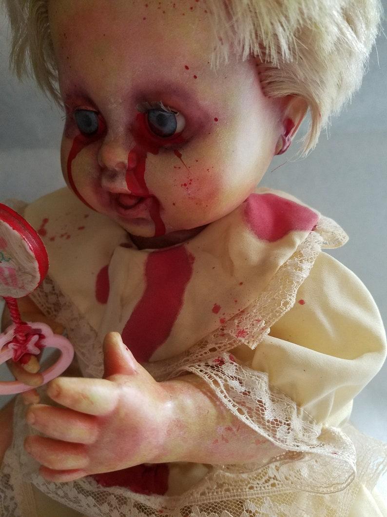 Reborn Zombie Doll Gloria Halloween Prop Horror Collectible