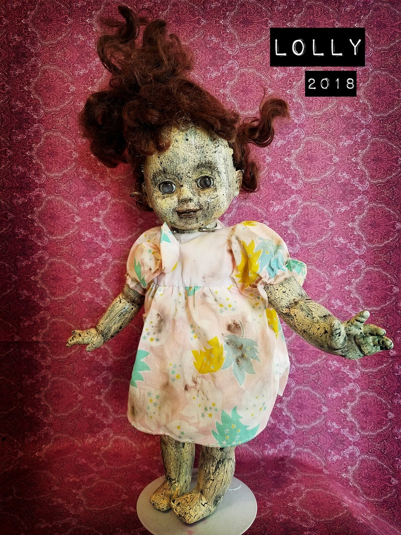 d36afeab07c Scary Reborn Zombie Doll Lolly Halloween Prop and Collectible