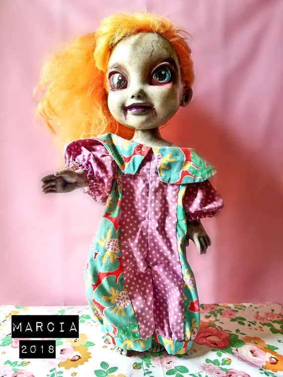 91d8d346ab3 Scary Reborn Zombie Doll Marcia Halloween Prop and Collectible