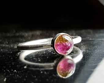 Watermelon Tourmaline Ring Tourmaline Ring Watermelon Tourmaline Gemstone Ring Bi Color Tourmaline Pink Tourmaline Ring Green Tourmaline