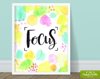 """Focus Art Print 8"""" x 10"""" 