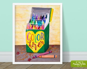 """Color Lover Art Print 8"""" x 10"""" 
