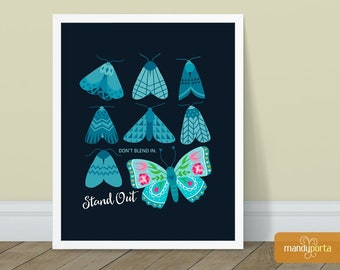 """Don't Blend In. Stand Out Art Print 8"""" x 10"""" 