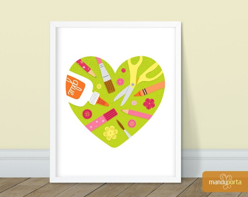 Love To Craft Art Print 8 x 10  Wall Decor for image 0
