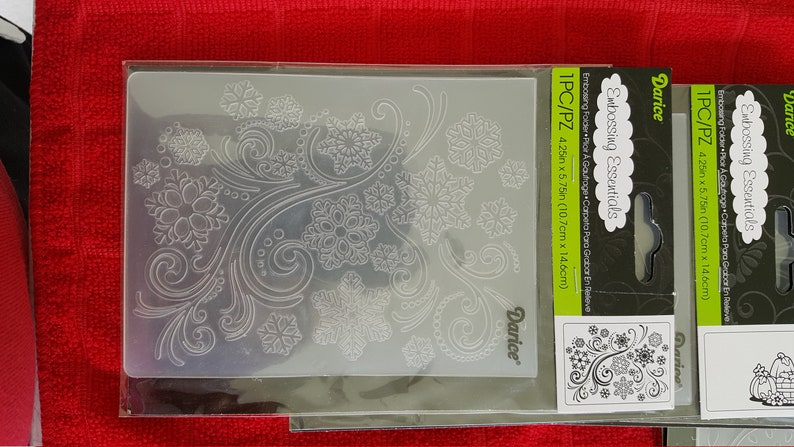 by Darice select snowflakes or pumpkins or Celebrate or all 3 and save holiday and party theme Darice Embossing Folders 4.25 by 5.75