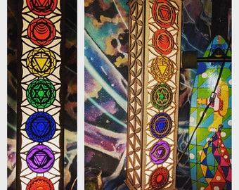 Seven Chakra 2' Laser cut Shoji floor/hanging lamp