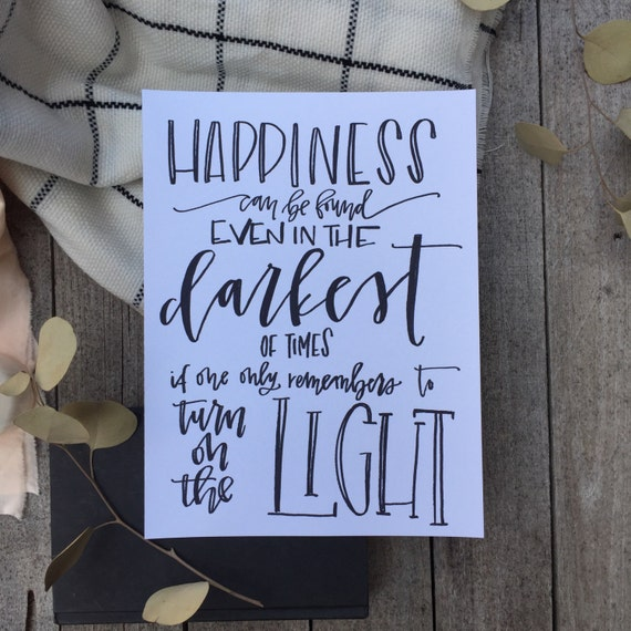 Harry Potter Quote Calligraphy Movie Quotes Etsy