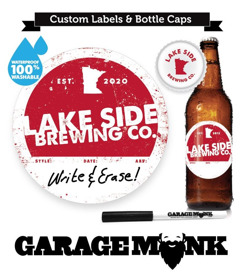 Home Brew Kombucha Canning Labels personalized gift sets  1 GarageMonk Pen