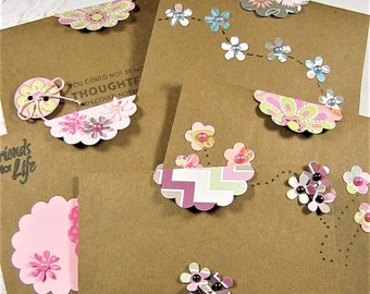 Assorted Gift Card Envelopes Holder Money Envelope All Occasion Birthday Gifts Thank You Ideas Handmade Set Of 5