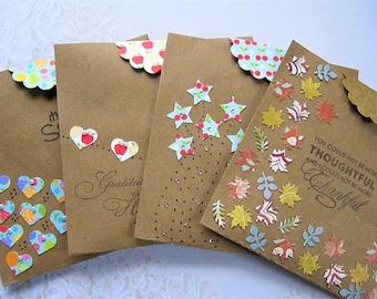 Gift Card Envelopes Money Envelope Holder All Occasion Pocket Birthday Thinking Of You Thank Ideas