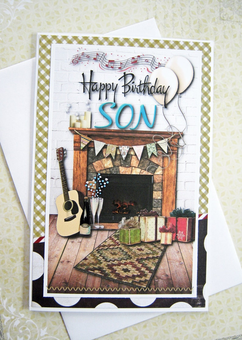 Happy Birthday Card For A Special Son Wishes