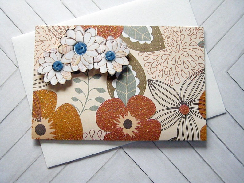 Gift envelope with dimensional flowers gifts for her Gift Card Envelope for any occasion Floral Gift Card Holder teacher gift