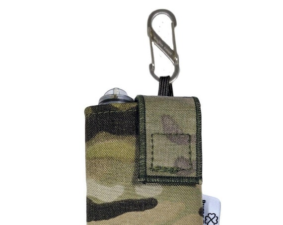 Multicam Cordura Insulin Pump Case / Pouch with NiteIze S-clip