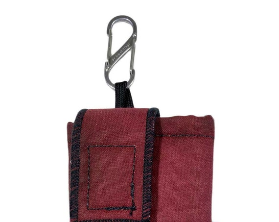 Burgundy Insulated Insulin Pump Case with  NiteIze S-clip