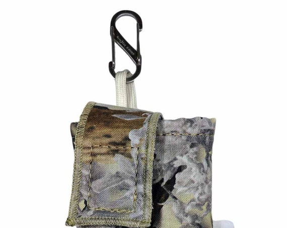 King's Camo Desert Insulin Pump Case with NiteIze S-clip