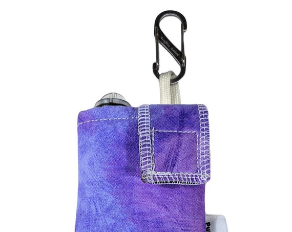 Purple Watercolor Insulated Insulin Pump Case with NiteIze S-clip