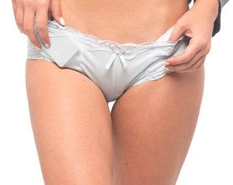 Silver panty fetish
