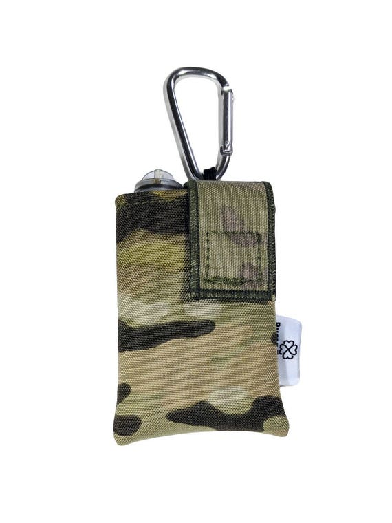 Multicam Cordura Insulin Pump Case / Pouch with Carabiner Clip