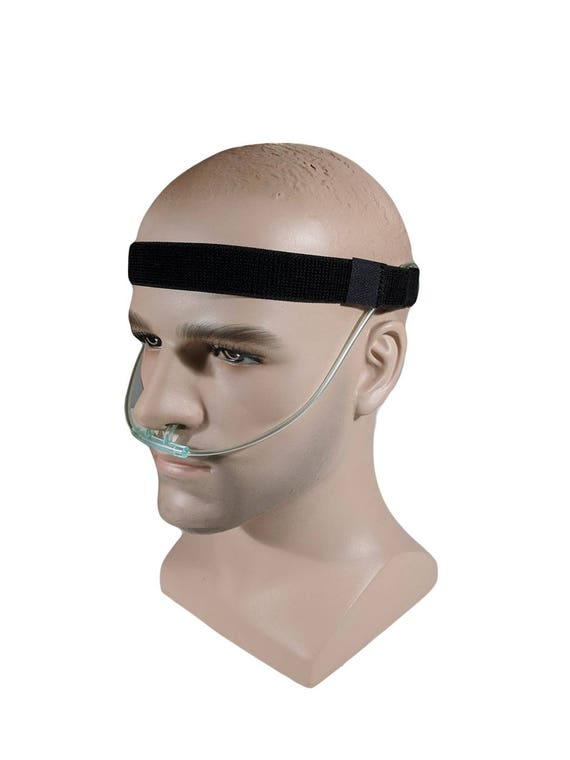 Adjustable Black Cannula Headband - protection from ear irritation