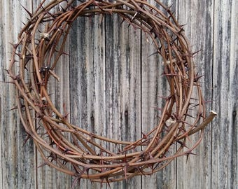 sharp real thorn wreath natural acacia thorns crown home decor door protection Christ crown of thorns christian passover rustic unique prop