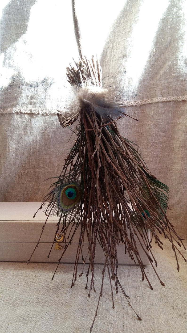 witches broomstick altar broom wiccan rituals tools witch besom natural  birch twigs feathers , pagan rituals wedding besom broom small size