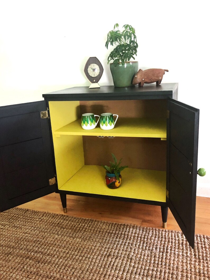 Small Mid Century Modern Cabinet Sude Table Tv Stand Bookcase