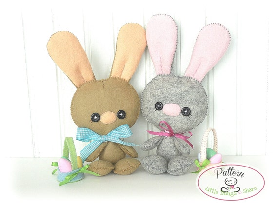 Baby Bunny Pdf Pattern Easter Bunny Sewing Pattern Cute Rabbit Etsy