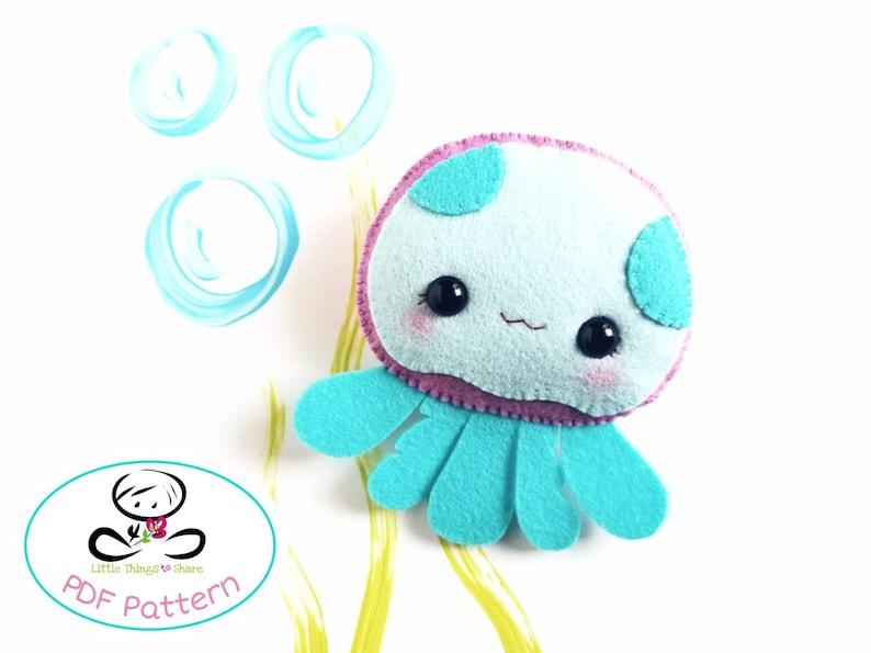 Maddy the Jellyfish PDF pattern-Sea animal toy-DIY-sea life image 0