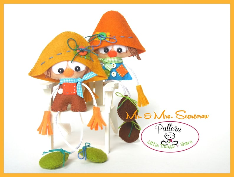 Mr. & Mrs. Scarecrow-Set of two PDF Sewing pattern-Fall image 0