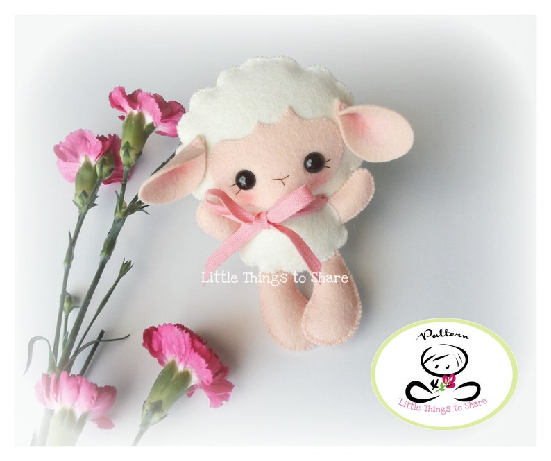 Baby Sheep-PDF pattern-Felt Lamb-DIY Project-Farm image 0