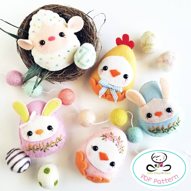 Baby Eggs PDF Pattern-Easter eggs sewing pattern-Egg image 0